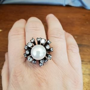 Large pearl cocktail ring from Park Lane